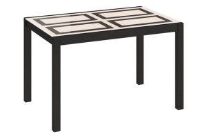 Диез Т4 Стол со стеклом кухонный раскладной С-345 Венге / Стекло с рисунком