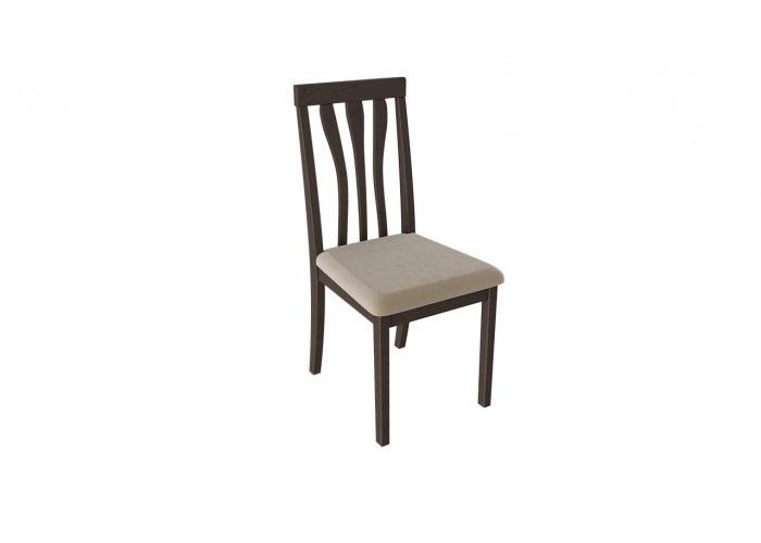 Пегас Б-502 Стул Орех темный/тк. №47, Кухни, Стулья и табуреты, Деревянные стулья, Стоимость 5168 рублей.