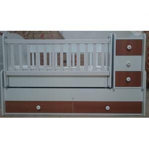 Детская кровать-трансформер B-523 Белый / Орех