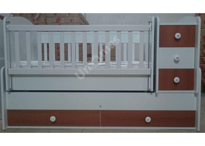 Детская кровать-трансформер B-523 Белый / Орех, Детская мебель, Детские кровати, Стоимость 16380 рублей.