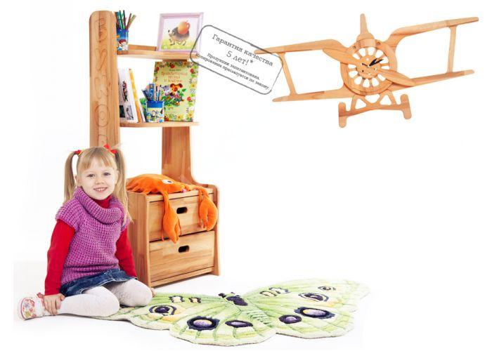 Часы Самолетик Ч04, Детская мебель, Модульные детские комнаты, Буковка, Стоимость 4418 рублей., фото 2