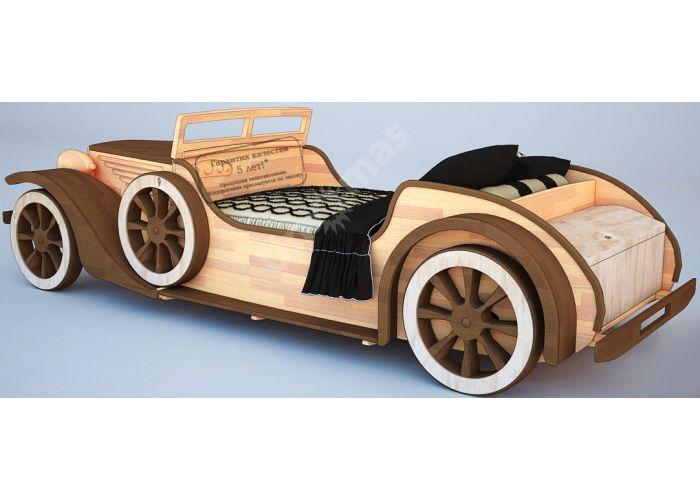 Кровать-машина Ретро (80), Детская мебель, Детские кровати, Стоимость 153646 рублей.