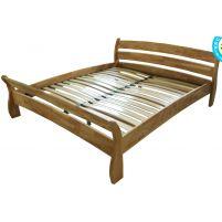 ДМ-04 Кровать двухспальная (с низкой задней спинкой с ламелями) 160