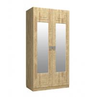 Анастасия, Шкаф платяной АН-1К с зеркалом дуб роше/дуб классик синхро
