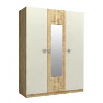 Анастасия, Шкаф трехстворчатый с зеркалом по центру АН-3К дуб роше/мисандея стоун/дуб классик синхро