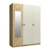 Анастасия, Шкаф трехстворчатый с зеркалом слева АН-3К дуб роше/мисандея стоун/дуб классик синхро
