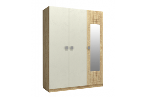 Анастасия, Шкаф трехстворчатый с зеркалом справа АН-3К дуб роше/мисандея стоун/дуб классик синхро