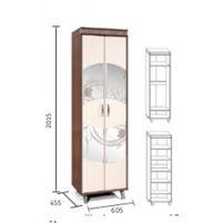 """Орфей-11 Тополь,  шкаф для одежды """"2Д"""" КМК 0364.3"""