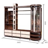 """Орфей-11 Тополь,  шкаф комбинированный с витриной """"П"""" КМК 0364.2"""