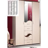 """Набор мебели для спальни, Шкаф для одежды """" С зеркалом""""  КМК 037.1-01"""