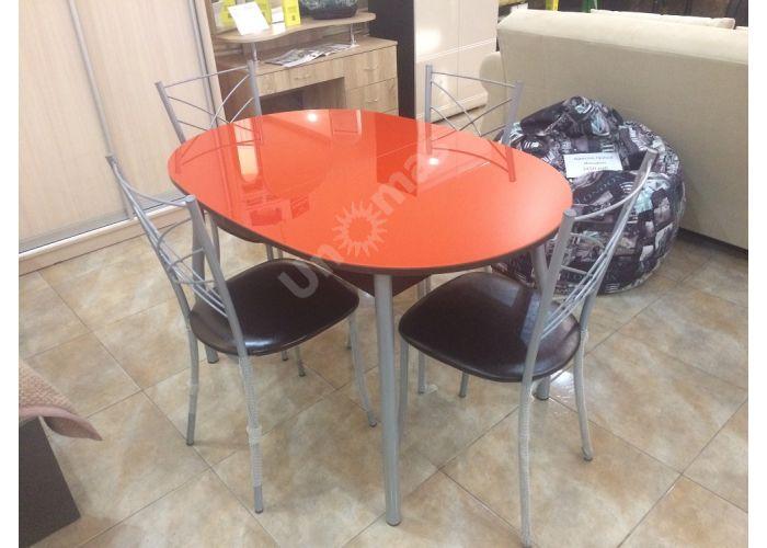 Обеденная группа: столешница Страсбур, металлокаркас Z 300 + стул Есей цвет металлик, сиденье винилкожа 23 (4 шт.), Распродажа, Стоимость 18559 рублей.