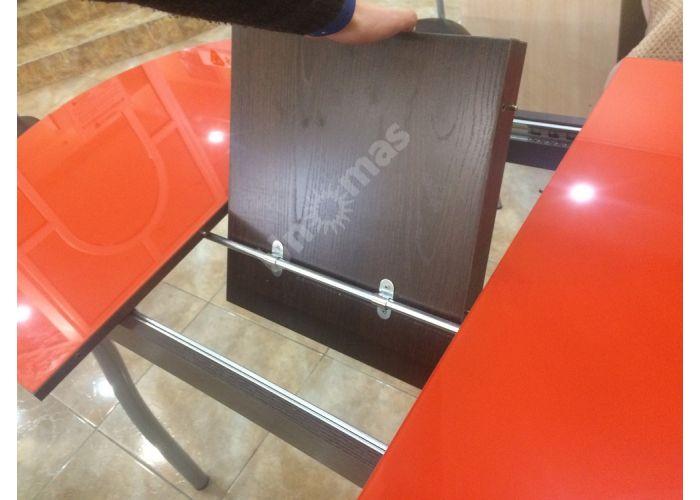 Обеденная группа: столешница Страсбур, металлокаркас Z 300 + стул Есей цвет металлик, сиденье винилкожа 23 (4 шт.), Распродажа, Стоимость 18559 рублей., фото 2