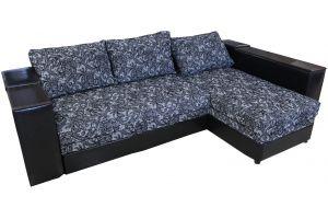 Лондон-3 Угловой диван Melange Ajur grey-black / Аполлон Black