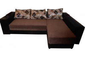 Лондон-3 Угловой диван Melange Chocolate / Apparel Furor dark brown 5-A